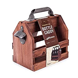 Wooden Bottle Caddy