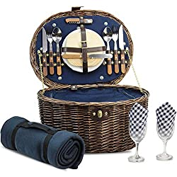 Natural Wicker Picnic Hamper