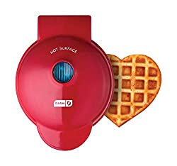Red Heart Mini Waffle Maker