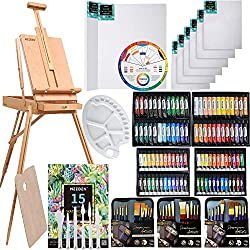 145 Pcs Deluxe Artist Painting Set with French Easel