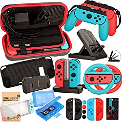 Best Gifts For Teenage Boys: Accessories Kit for Nintendo Switch Games Bundle