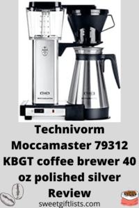Technivorm Moccamaster 79312 kbgt coffee brewer 40 oz polished silverTechnivorm Moccamaster 79312 kbgt coffee brewer 40 oz polished silver
