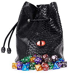 Black Dragon DND Dice Bag