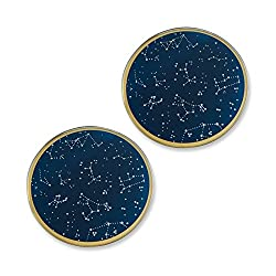Kate Aspen Under the Stars Glass Coaster Set