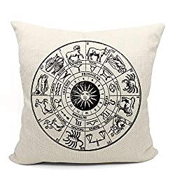 Mancheng-zi Zodiac Constellation Astrology Circle Throw Pillow Case