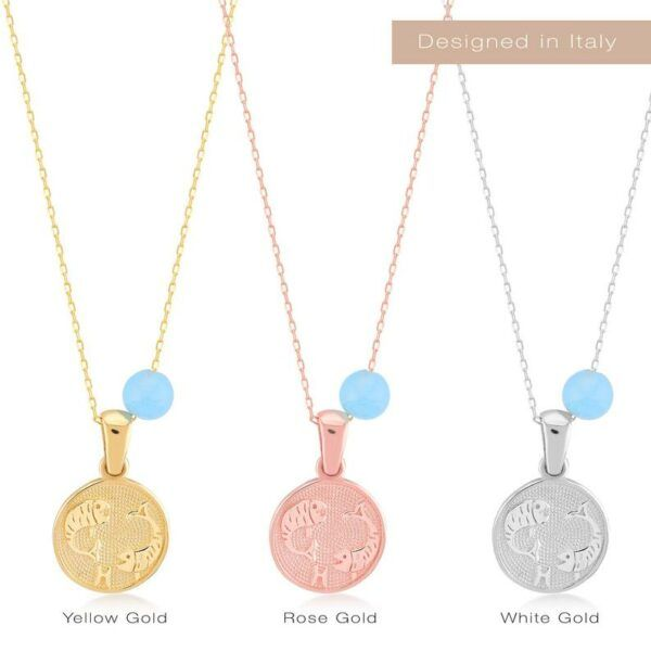 Zodiac Sign Necklace in 14k Gold