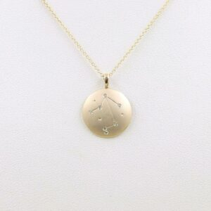 14k Star Sign Necklace Libra