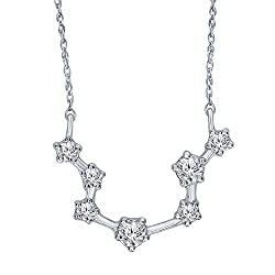 1/5 Carat Diamond Constellation Zodiac Sign Pendant Necklace