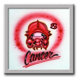 Airbrush T-shirt Cancer Zodiac