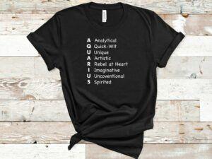 Aquarius List of Traits T Shirt