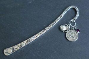 Aquarius Metal Astrology Bookmark
