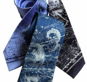 Aquarius Zodiac Constellation Star Chart Neck Tie
