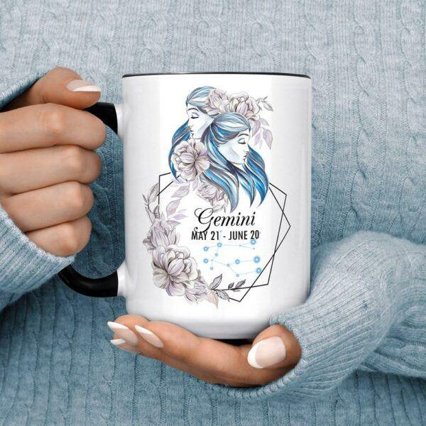 Beautiful Watercolor Gemini Coffee Mug