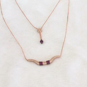 Bow and Arrow Rose Gold Necklace