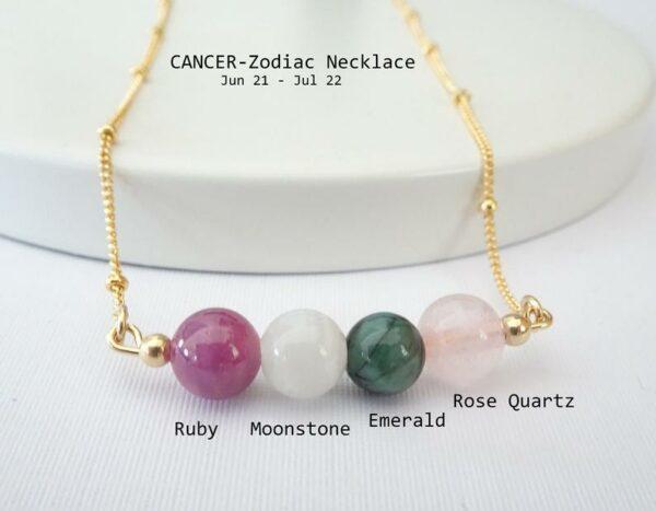 Cancer Gemstone Necklace