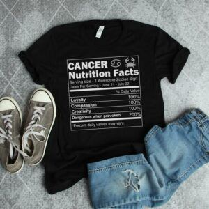 Cancer Nutrition Facts T Shirt
