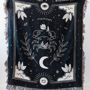 Cancer Star Sign Gifts: Cancer Zodiac Blanket