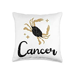 Cancer Gifts: Cancer Zodiac Sign Gift Throw Pillow