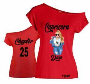 Capricorn Curvy Diva T Shirt
