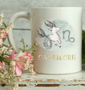 Capricorn Watercolor Coffee Mug