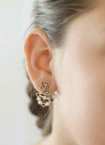 Capricorn Zodiac Constellation Earrings