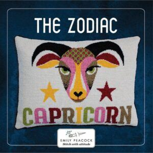 Capricorn cross stitch kit - small