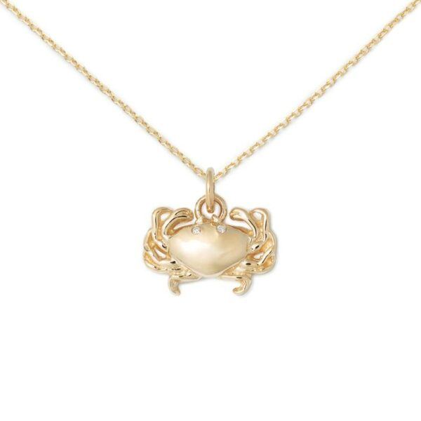 Crab Necklace 14K Gold