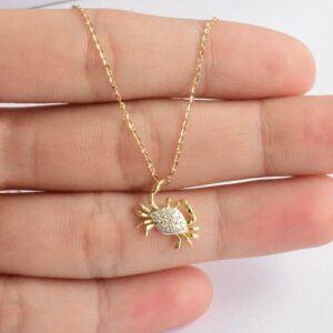 Crab Pendant Necklace