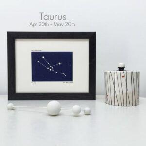 Framed Taurus Constellation Art Print
