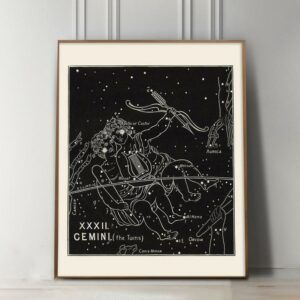 Gemini Zodiac constellation Art Print