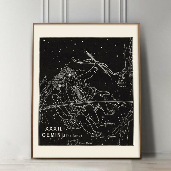 Gemini Zodiac constellation Art Print