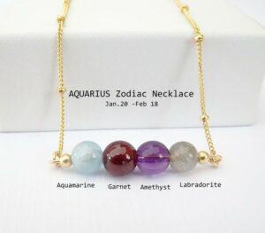Gemstone Birthstone Necklace