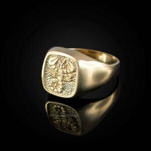 Gold Scorpio Men's Zodiac Ring