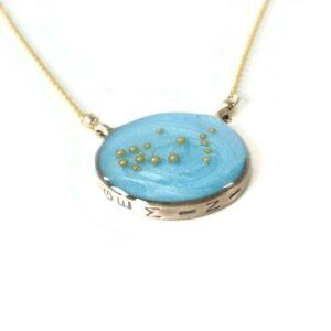 Gold or Silver Gemini Constellation Necklace