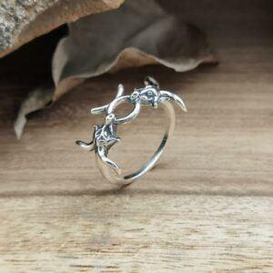Handmade Taurus Bullfight Ring Sterling Silver