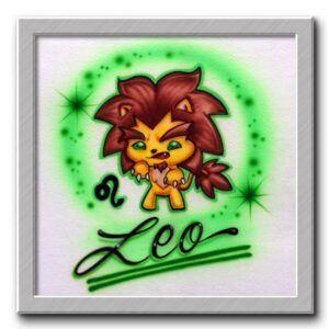 Leo Airbrush T Shirt