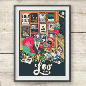 Leo Art Deco Print