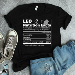 Leo Nutrition Facts T Shirt