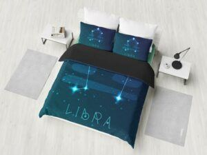 Libra Zodiac Sign Astrology Bedding Set