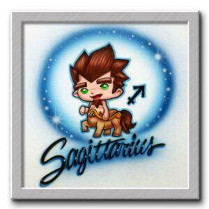 Sagittarius Airbrushed T Shirt