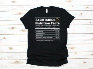 Sagittarius Nutrition Facts T Shirt