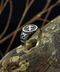 Sagittarius Stamper vintage sterling silver ring