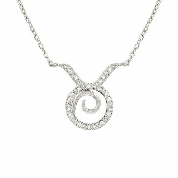 Sterling Silver Taurus Pendant