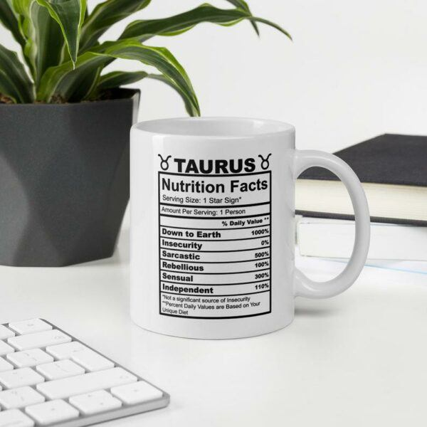Taurus Nutrition Facts Coffee Mug