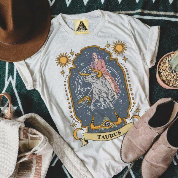 Taurus Zodiac Art T Shirt