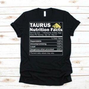 Taurus Zodiac Nutrition Shirt