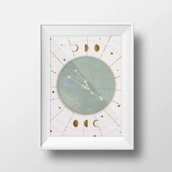 Taurus Zodiac Print
