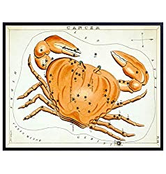Vintage Cancer Astrological Zodiac Chart