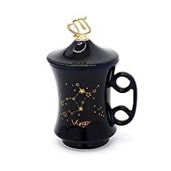 Virgo Ceramic Mug with Lid