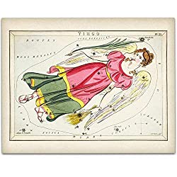 Virgo Zodiac Antique Constellation Art Print